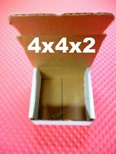 15 White 4x4x2 Shipping Gift Storage Boxes Small Corrugated Mailers
