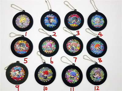 Anime Hypnosis Mic Division Rap Battle Rubber keychain KeyRing cosplay