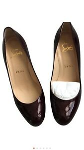 save off 70ae4 34459 Details about Classic Burgundy Patent Christian Louboutin Pump Size 36