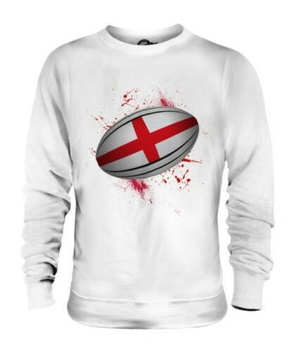 Inghilterra Pallone da Rugby Splatter Unisex Maglione Regalo Coppa Del Mondo