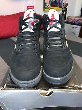 0309372a084 Nike Air Jordan 9.5 Team Black Metallic Silver Red (13 ) Retro IX ...