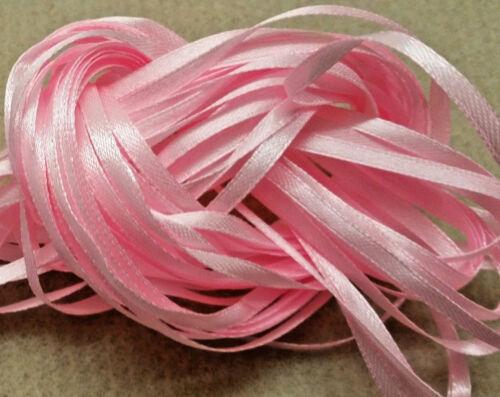 50 m étroit ruban-pastels lot 3 Craft Ribbon