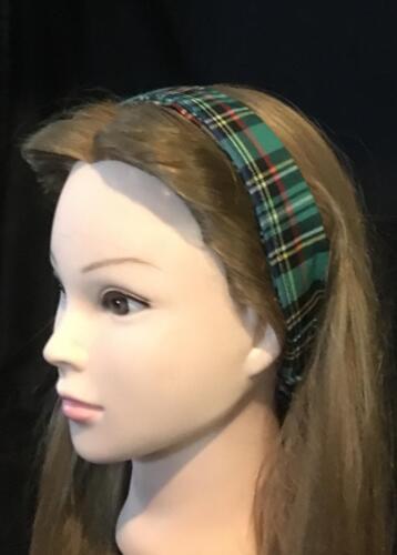 Green Tartan Wide Hair Band Head Scottish Clan Bandana Ladies Fashion feeanddave