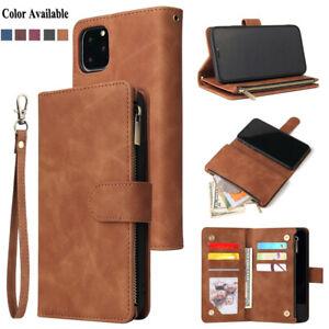 Dettagli su Cover per iPhone 12 X XS XR 11 Pro Max 8 7 6s Plus custodia portafoglio in pelle