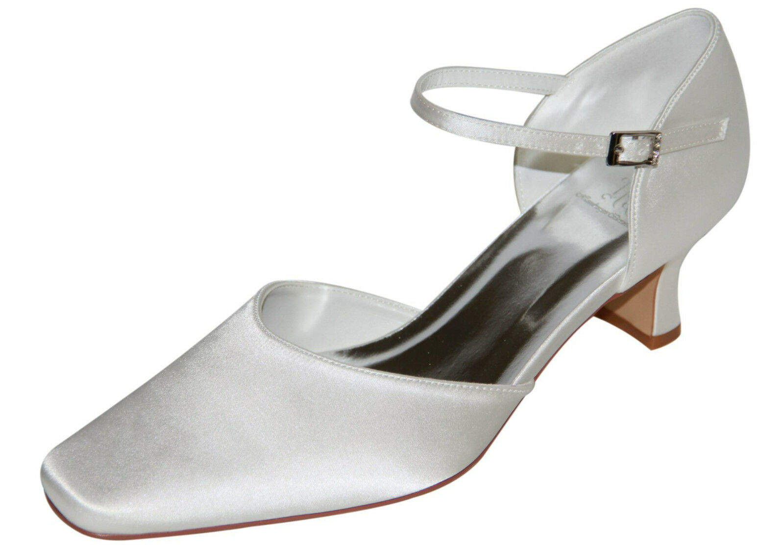 HBH Satin Bridal Shoes, Soft lined interior with Delicate Leather Straps, 5cm Heel