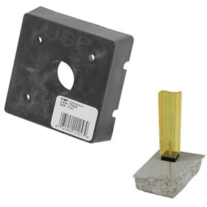 """USP 4/"""" x 4/"""" Plastic Wood to Concrete Structural Connectors Composite Post Base"""