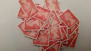 50x 1ST CLASS RED SECURITY STAMPS, UNFRANKED OFF PAPER (FV £32.50)