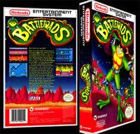 Battletoads - Nes Reproduction Art Case/box No Game.
