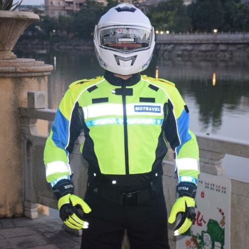 Motocross Riding Protective Men Police Reflective Jackets Motorcycle Waterproof