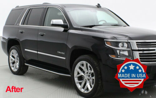 2015-2019 Chevy Tahoe//Yukon Overlay Stainless Steel Body Side Molding 4Pc Trim