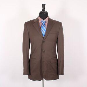 Banana Republic 38R Brown Solid Wool Three Button Sport Coat Blazer Jacket