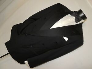 Ermenegildo-Zegna-men-039-s-Double-Breasted-formal-tuxedo-jacket-coat-42-R