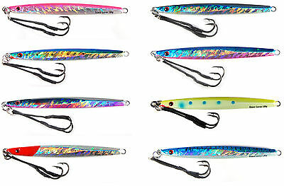 """gypsy lures saltwater speed jig 150g 5 1//4oz 7/""""  red head holo butterfly jig"""