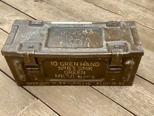 Ammo-Box-Large-Military-Metal-Tin-Surplus-Storage-L49-x-D20-X-H-20CM