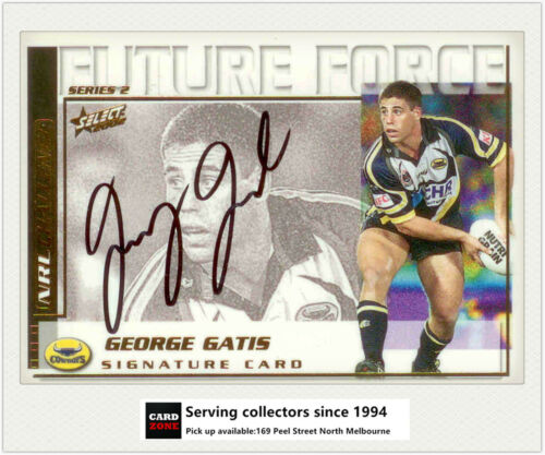 2002 Select NRL Challenge Future Force Signature FF30 George Gatis Cowboys