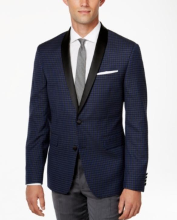 Bar III Mens Mens Mens Jacquard Shawl Collar Slim Fit Jacket Sz 40L 7581 2f6