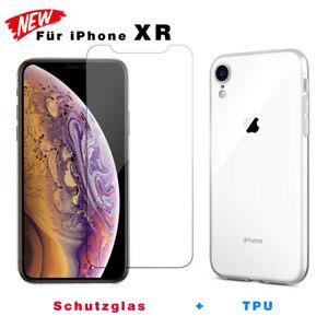 Panzerfolie-fuer-iPhone-XR-Transparent-Handy-Huelle-Silikon-Case-Schutz-Glas
