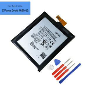 New-Battery-GV40-SNN5968A-For-Motorola-Moto-Z-Droid-Force-1650-2-Tools-3280mAh