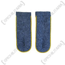German Luftwaffe Blue Shoulder Boards YELLOW PIPED - WW2 Repro Epaulettes New