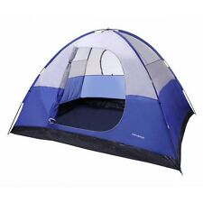 North Gear Camping 6 Person Dome Family Camping Tent in Blue