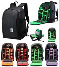 Deluxe Shockproof Camera Bag Case DSLR SLR Backpack for Canon Nikon Sony Laptop