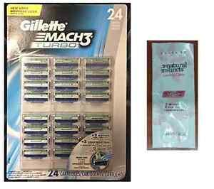 Gillette-Mach3-Turbo-Blister-Pack-24-Cartridges-Free-LovingCare-Packet