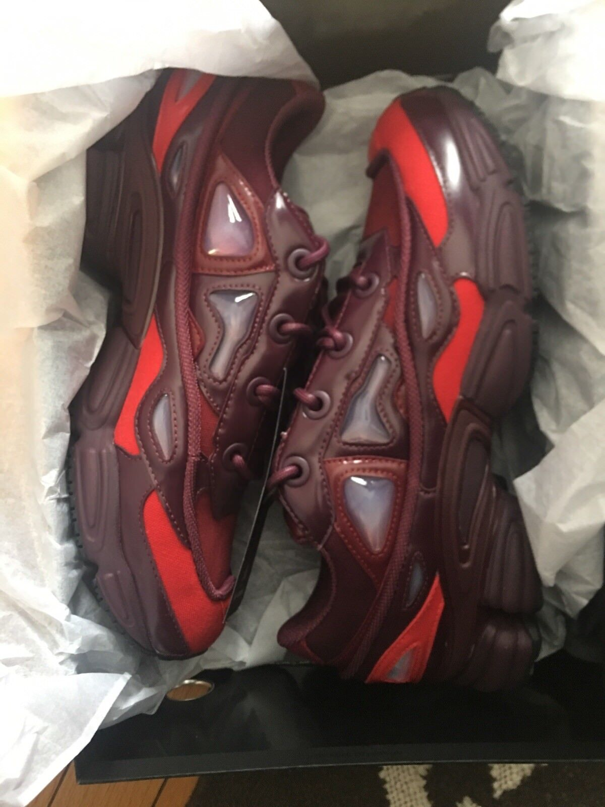 Raf simmons Ozweego 3 DS Burgandy Red