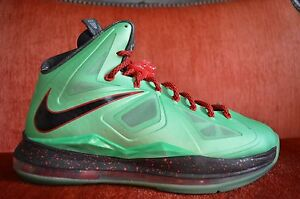 hot sale online 4a4c7 e9c2c Image is loading CLEAN-Nike-Air-LeBron-X-10-Cutting-Jade-