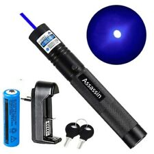 900 Miles Blue Purple Laser Pointer Pen Rechargeable 1 Mw Lazerbatterycharger