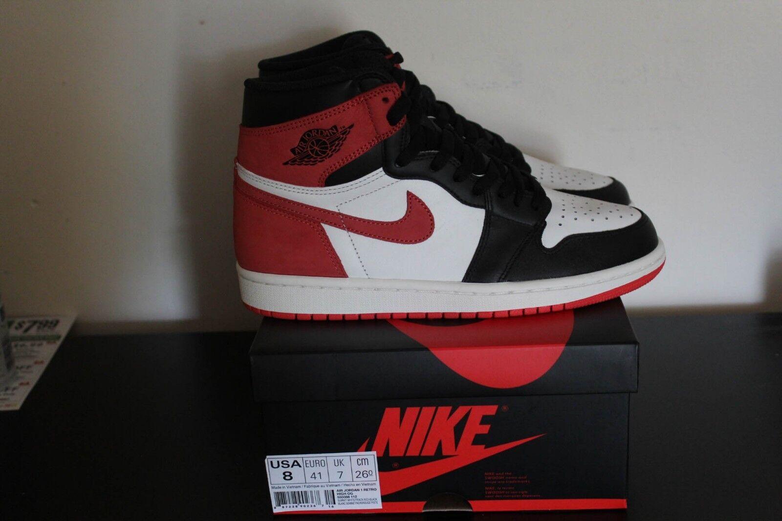 Air Jordan 1 Retro High OG Track Red Size 8