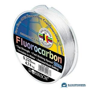100-FLUOROCARBON-ANGELSCHNUR-VORFACHMATERIAL-ROBINSON-TEAM-LINE-SCHNUR-NEU