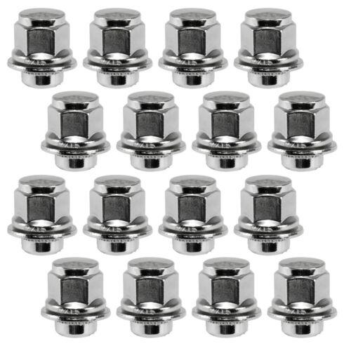 "16 Piece 12x1.5 Chrome Mag Style Lugs 13//16/"" Head .72/"" Shank Width Wheel Nuts"