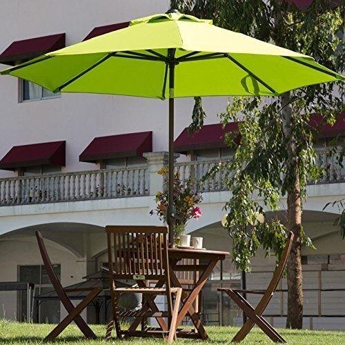 Teak Wood Sunbrella Patio Umbrella