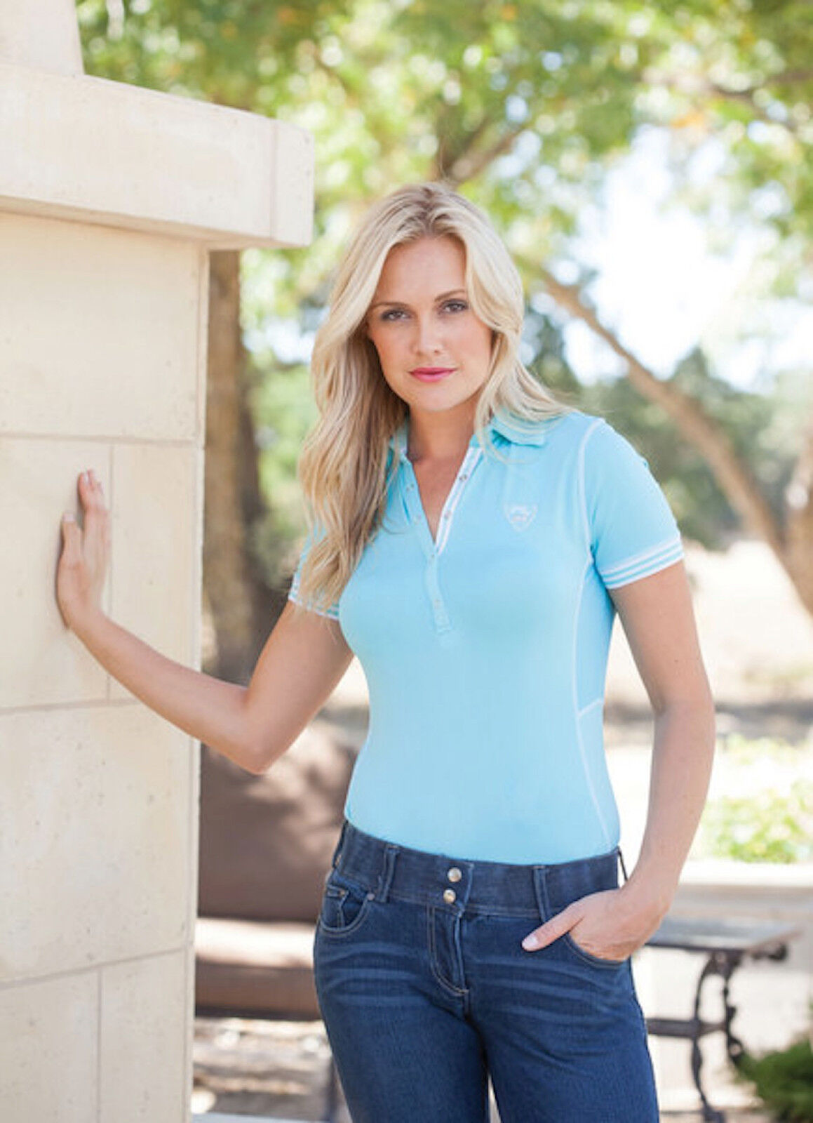 Goode Rider Ideal Polo-Turquoise-L Sport Polo-Turquoise-L Ideal ba830f