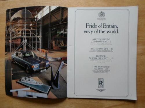 Pride of Britain ROLLS ROYCE prestige large publicity brochure c1986