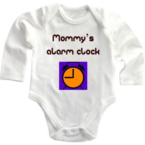 Mommy/'s Alarm Clock Long Sleeve Baby Bodysuit One Piece