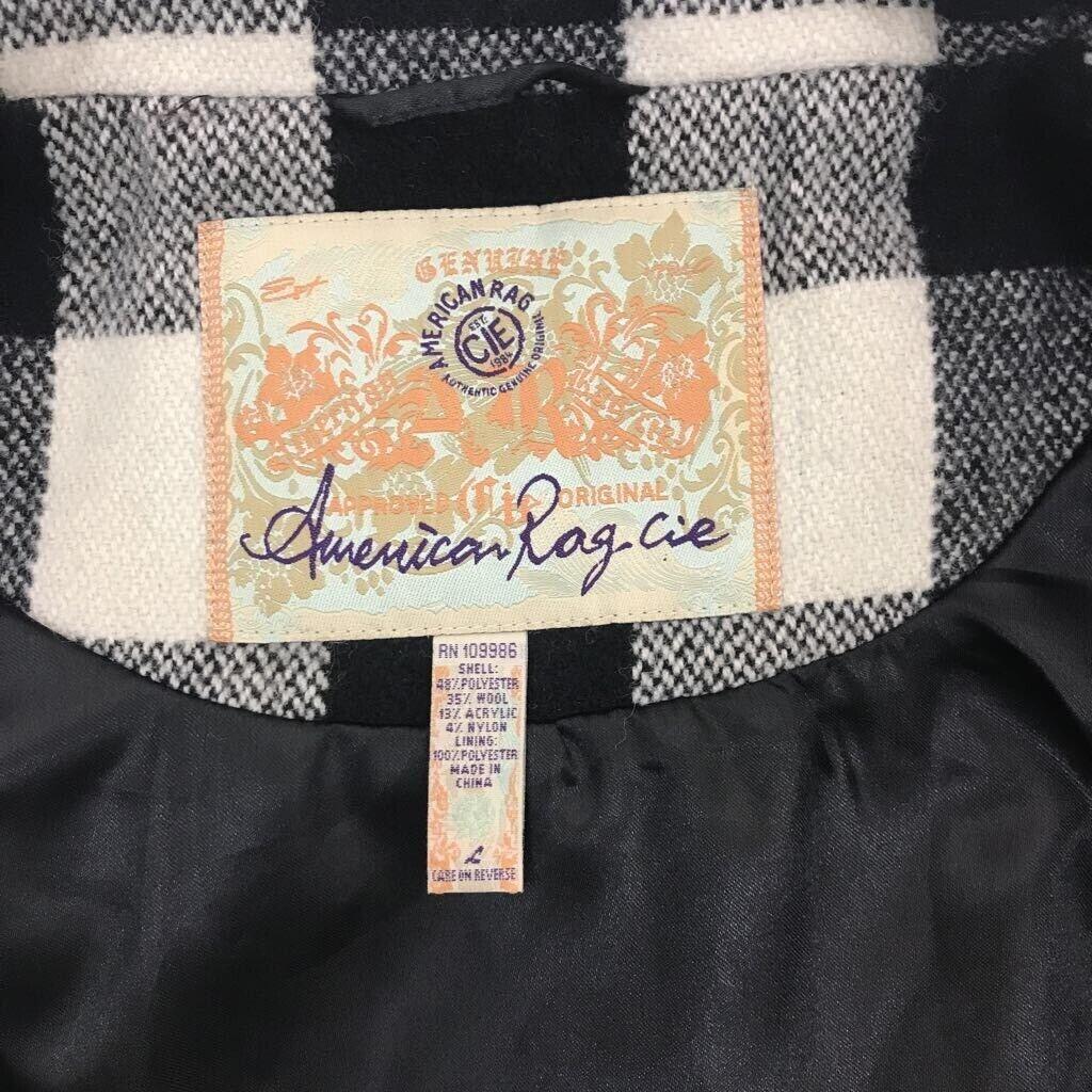 American Rag youth Duffel coat black/ white Buffa… - image 6