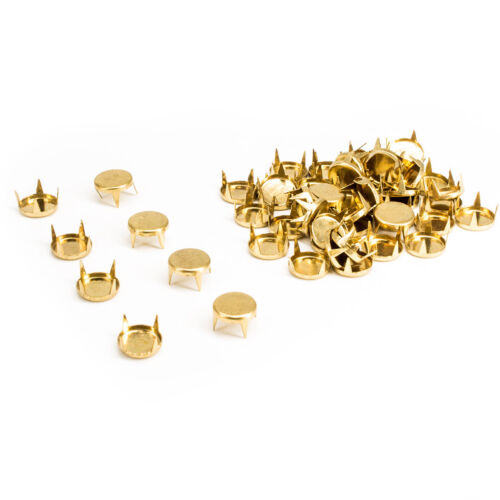 Fashion Punk 100pcs Diamond Cut Nail Head Studs Gold or Silver for Leather Craft