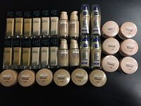 Maybelline And L'oreal Lot Of 32 Foundation
