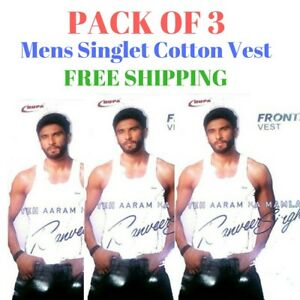 Mens-Singlet-Cotton-Sleeveless-White-Gym-Casual-Vest-Pack-of-3-Rupa-Frontline