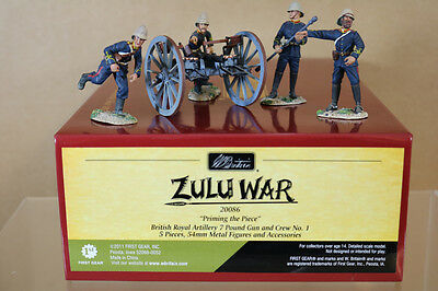 BRITAINS 20086 ZULU WAR BRITISH ROYAL ARTILLERY 7 POUND GUN & CREW No 1 nj