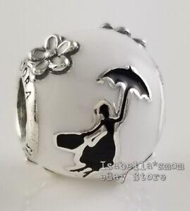 DISNEY Authentic PANDORA White MARY POPPINS' SILHOUETTE Charm ...