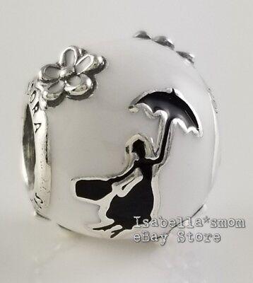 DISNEY Authentic PANDORA White MARY POPPINS' SILHOUETTE Charm 797510ENMX w  POUCH   eBay
