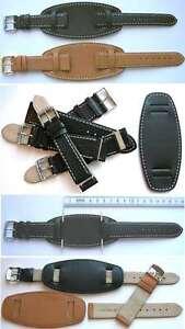 FLIEGER-ECHTLEDERARMBAND-BUND-3-Teilig-MIT-UNTERLEDER-Auswahl-18-20-22-24mm
