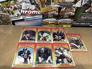 NFL Card Lot X7 Hall Of Famer Inserts 1990 Rare 🏈🔥Franco Harris