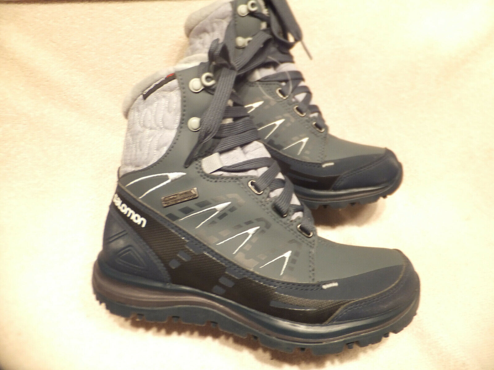 Salomon donna  Snow Hiking avvio Climasield Sz.5.5M EU36 2  3 MAI WORN  vendita outlet