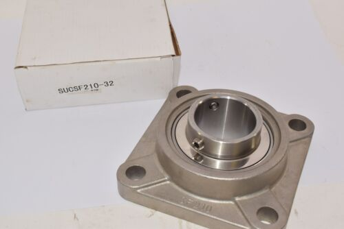NEW HBC SSUC210-32 Stainless Steel Bearing Insert, SF210 Flange Mount