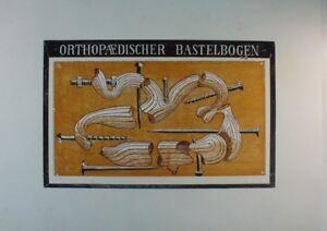 Unbekannter-Kuenstler-in-Platte-monogrammiert-Orthopaedischer-Bastelbogen-G-2662
