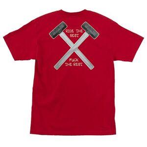 Independent Trucks HAMMERS POCKET Skateboard Shirt RED LARGE
