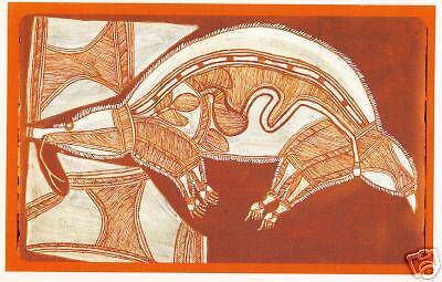 Aborigines am Uluru und Aboriginal Art Ansichtskarte aus Australien